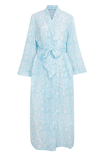 Palm Beach Dressing Gown - Sky
