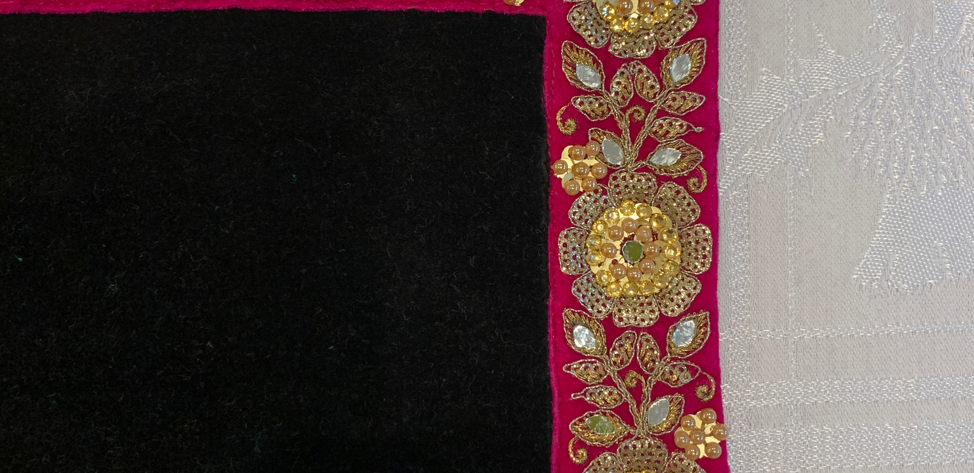 Jet Black/Pink Jewel Braid