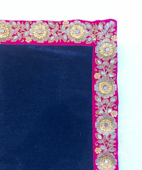 Sapphire Blue/Pink Jewel Braid