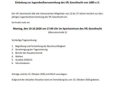 Jugendvollversammlung des VfL Geesthacht