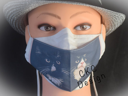 Two Cats Photograph Mask/Face Covering