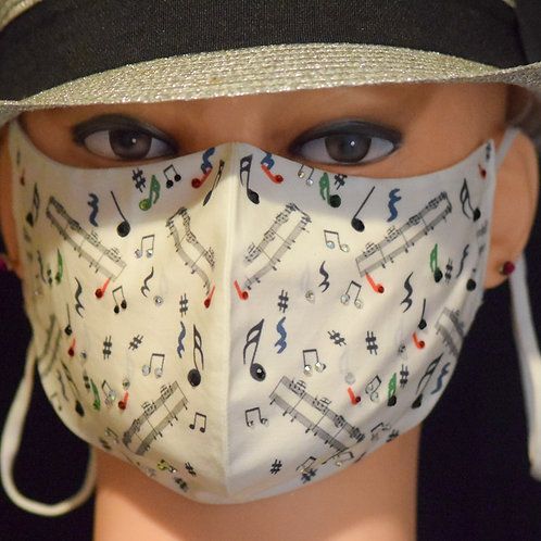 Musical Notes Bling Mask/Face Covering