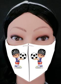 Boy Football Curly Mask Model