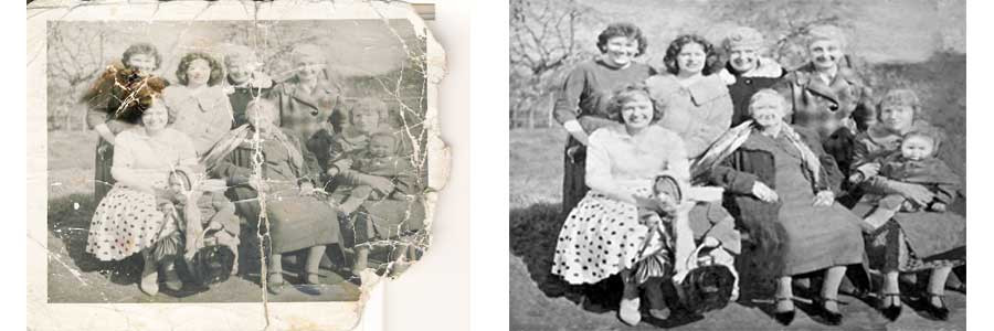 The Caseys at Hop-Picking - An old pic turned into a new pic by me.