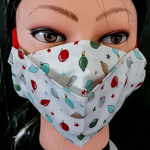 Christmas Baubles Mask/Face Covering