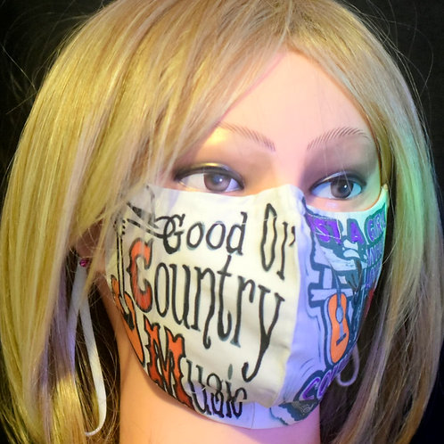 Country Music (Ladies) Rounded Mask/Face Covering