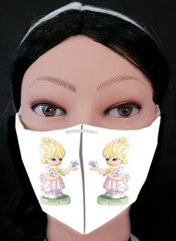 Girl Butterfly Mask Model