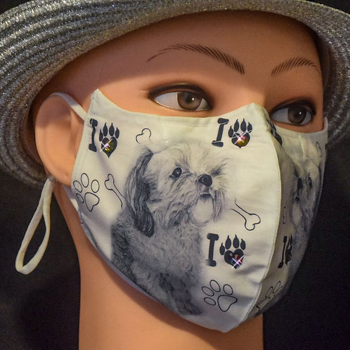 Lhasa Apso Bling (Bailey) Mask/Face Covering