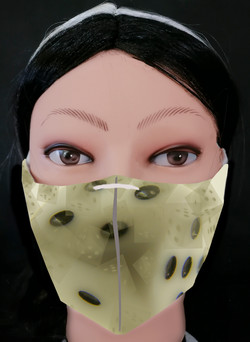 White Dice Cream Mask Model