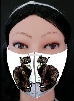 Cat Looking up Mask Model