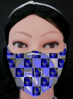 Blue Dice Mask Model