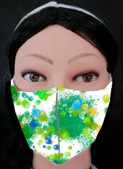 Butterflies Grunge 3 Mask Model