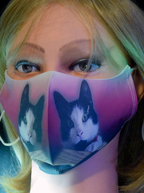 Cat Photograph Mask/Face Covering