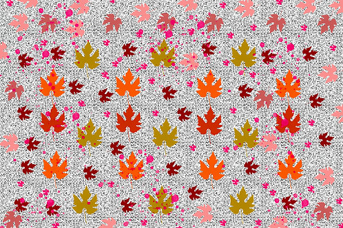 Autumn Leaves Orange Background