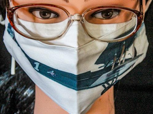 Vintage Plane Photograph Mask/Face Covering