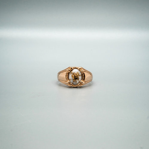 Wrangle Gold Quartz Ring