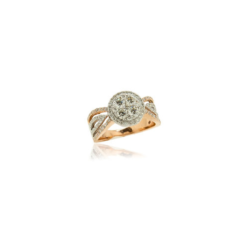 Rebecca Two Toned Diamond Ring