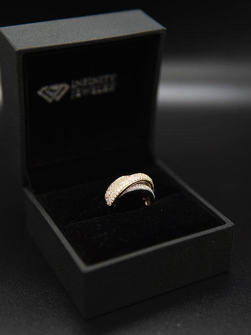 Alexandra Triple Toned Ring