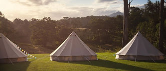 bell tent village wedding