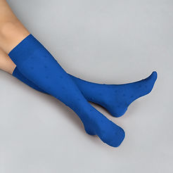 Dotted Blue Socks