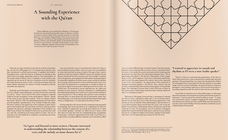 A Sounding Experience with the Qur'an