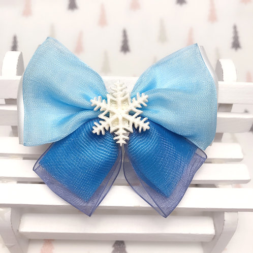 Barrette cheveux princesse bleu et blanc