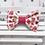 Thumbnail: Barrette cheveux noeud papillon tissu coton imprimé fleuri blanc rose