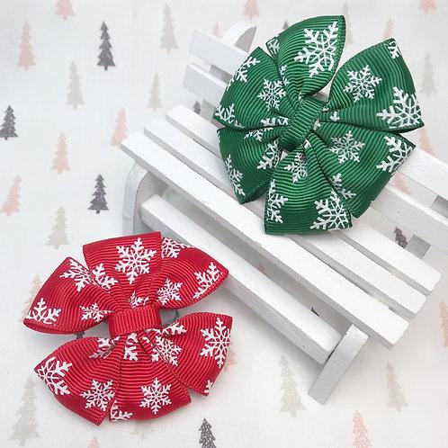 Barrette triple noeud paillon Noël