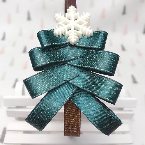 Serre-tête Noël sapin en ruban