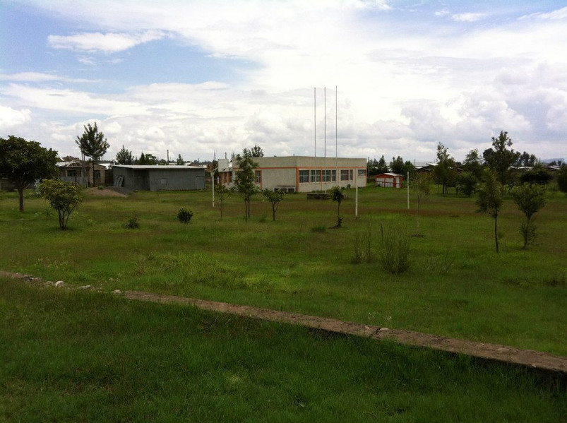 The land BEFORE we acquired the school.