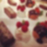Plating up desserts; chocolate ganache w