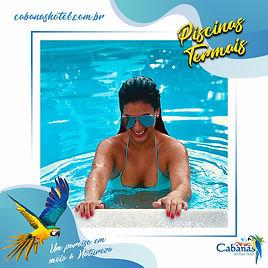 Cabanas Termas Hotel - Piscinas Termais.