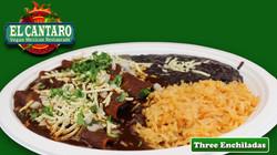 Enchiladas your choice of Chickin'  or Steak