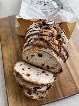 Pan de arándanos rojos
