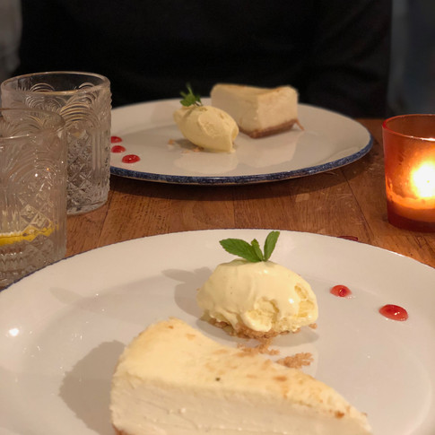 Tarta de queso con vainilla