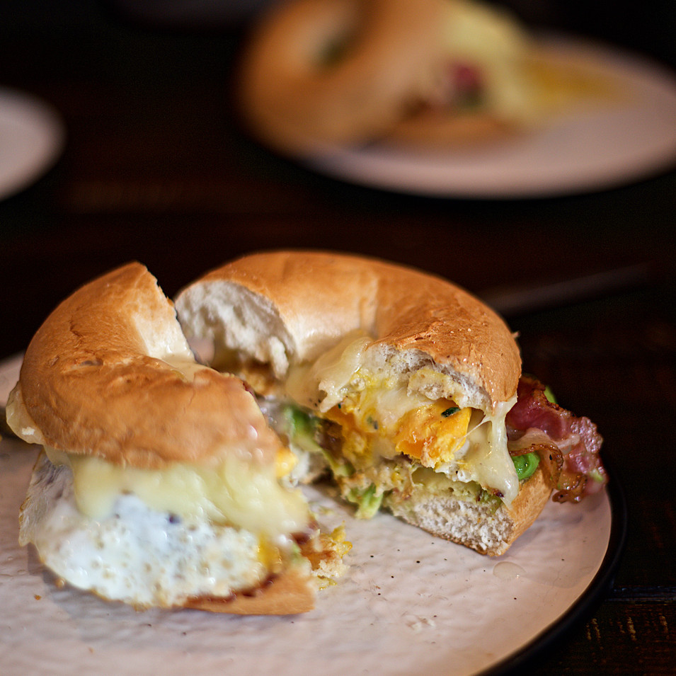 Bacon Cheese egg Bagel