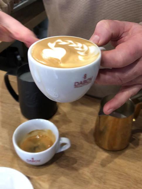 Cappuccino y latte art