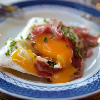Huevos con jamón y patata