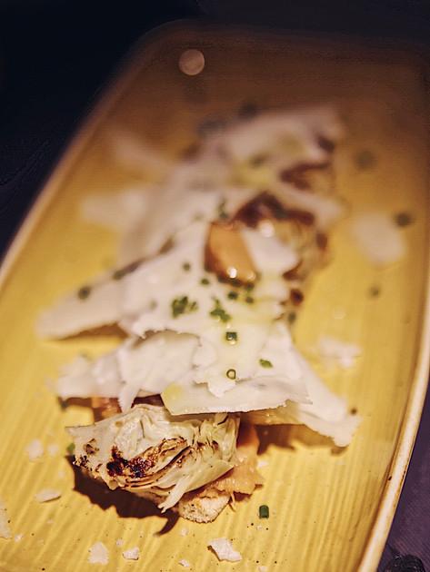 Alcachofas y parmesano