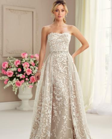 STRAPLESS WEDDING DRESS DETACHABLE SKIRT   Wedding Dresses Arizona ...