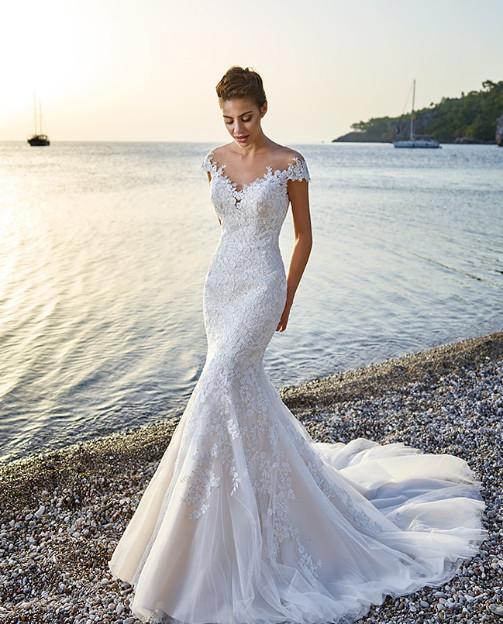 Illusion Neckline Wedding Dress Dresses Arizona Westgate In Glendale Az Bride Studio