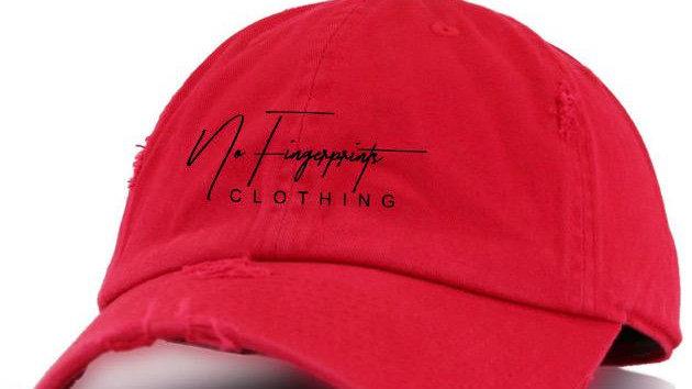 """RED """"VINTAGE"""" DAD HAT"""