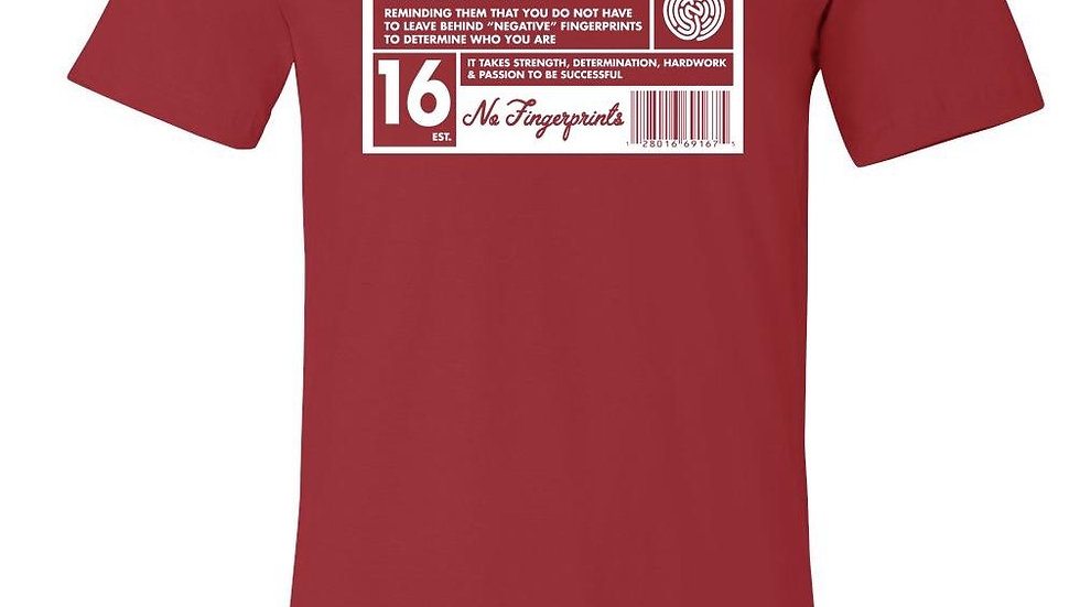 RED&WHITE CREW NECK MISSION TEE