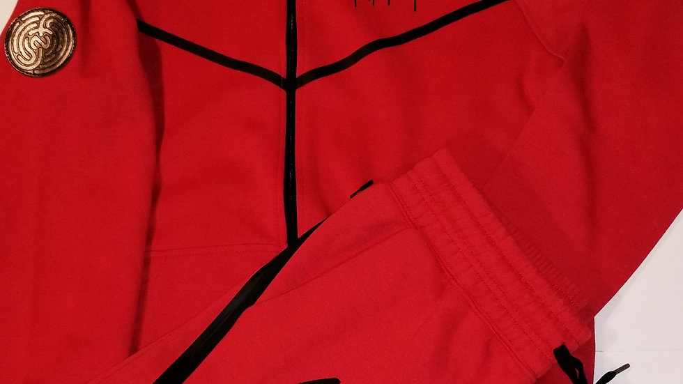 RED&BLACK NFP DRIP JOGGER