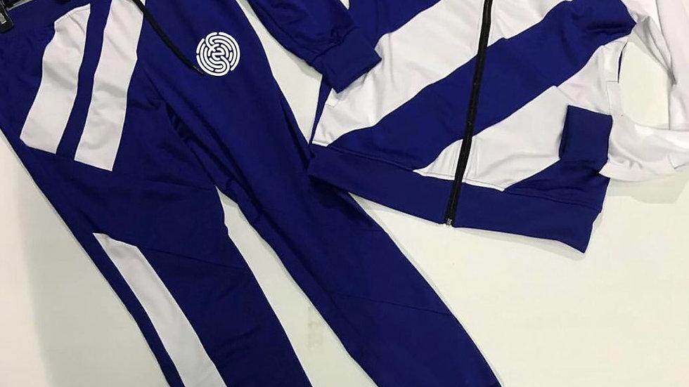 BLUE&WHITE SIGNATURE JOGGER
