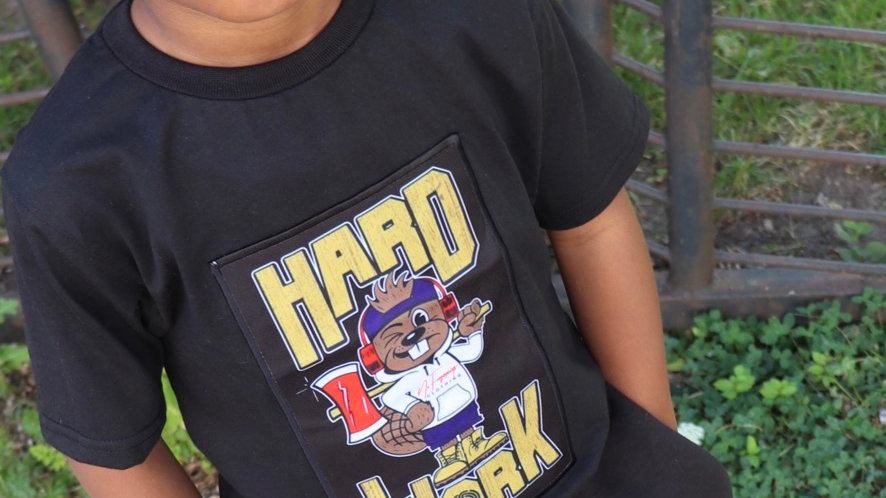 Kids Quirk Hard Work Patch T-Shirt