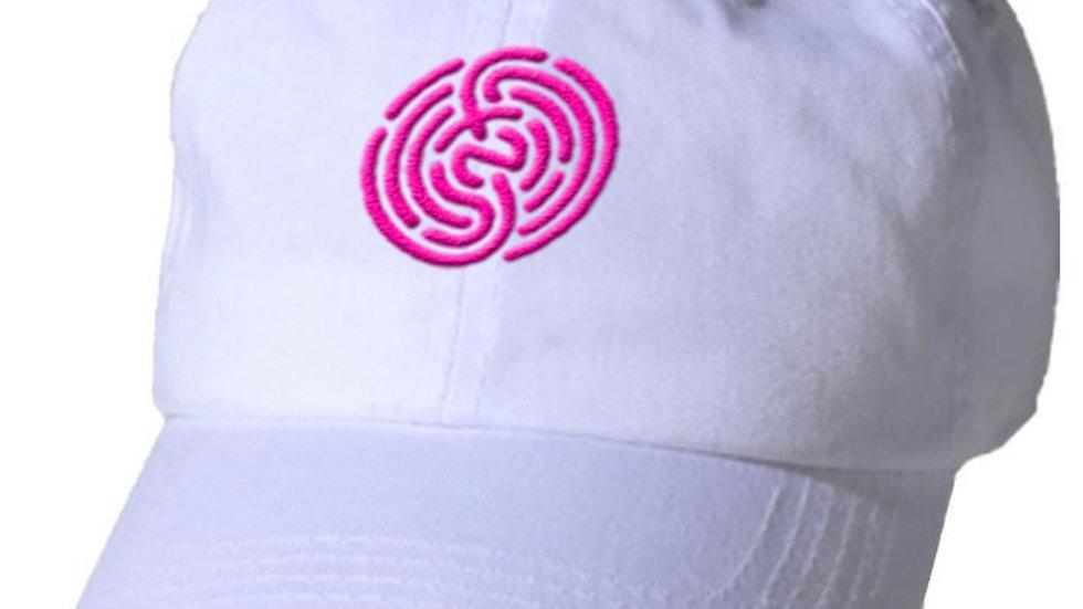 WHITE&PINK DAD HAT