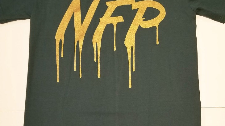 GREEN&GOLD NFP DRIP TEE