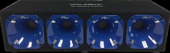 4 Horn Enclosure BLACK/BLUE (800 Watts)