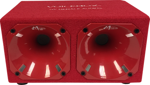 Dual Horn Enclosure - RED/RED (400 Watts)